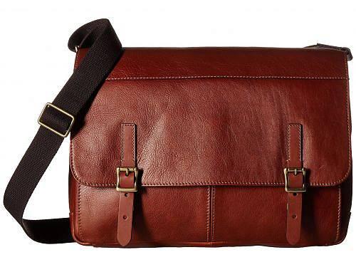フォッシル Fossil メンズ 男性用 バッグ 鞄 メッセンジャーバッグ ショルダーバッグ Defender Slim Messenger - Cognac
