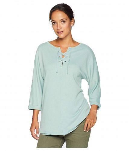 送料無料 ジャグジーンズ Jag Jeans レディース 女性用 ファッション パーカー スウェット Debbie Lace-Up Shirt - Blue Jade