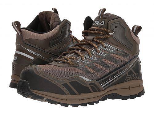 送料無料 フィラ Fila メンズ 男性用 シューズ 靴 スニーカー 運動靴 Hail Storm 3 Mid Composite Toe Trail - Walnut/Major Brown/Gold Fusion