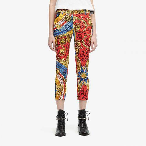 送料無料 モスキーノ Moschino レディース 女性用 ファッション パンツ ズボン Printed Crop Pants - Multi
