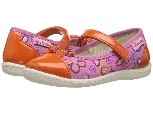 送料無料 ナチュリーノ Naturino 女の子用 キッズシューズ 子供靴 フラット 8063 SS18 (Toddler/Little Kid/Big Kid) - Pink Multi