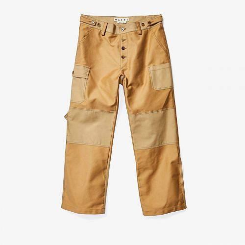 送料無料 マルニ MARNI メンズ 男性用 ファッション パンツ ズボン Double Knee Detail Painter Pants - Beige