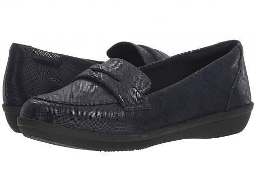 クラークス Clarks レディース 女性用 シューズ 靴 ローファー ボートシューズ Ayla Form - Navy Synthetic