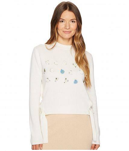 送料無料 カシミアインラブ Cashmere In Love レディース セーター Daisy Oya Embroidered Pullover - Off-White