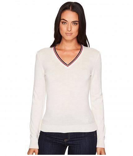 ダーレ・オブ・ノルウェイ Dale of Norway レディース 女性用 ファッション セーター Kristin Sweater - A-Off-White Melange/Navy/Raspberry