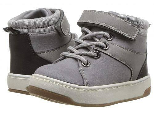 カーターズ Carters 男の子用 キッズシューズ 子供靴 スニーカー 運動靴 Caruso (Toddler/Little Kid) - Grey Fabric Suede/PU/Chambray