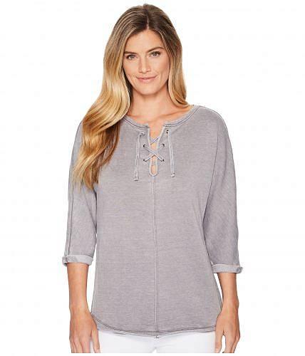 送料無料 ジャグジーンズ Jag Jeans レディース 女性用 ファッション パーカー スウェット Debbie Lace-Up Shirt - Grey Streak