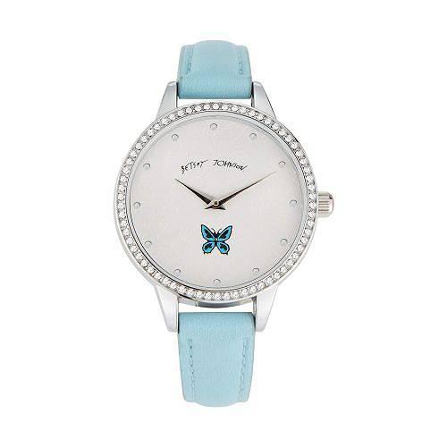 送料無料 ベッツィージョンソン Betsey Johnson レディース 女性用 腕時計 ウォッチ ファッション時計 Sweeping Icons Watch - Blue