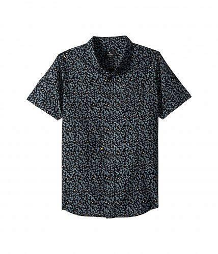 リップカール Rip Curl Kids 男の子用 ファッション 子供服 ボタンシャツ Northern Short Sleeve Shirt (Big Kids) - Black