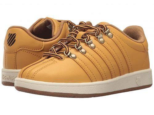 送料無料 K-Swiss ケースイス キッズ 子供用 キッズシューズ 子供靴 スニーカー 運動靴 K-Swiss ケースイス Classic VN (Little Kid) - Amber Gold/Chocolate/Antique White