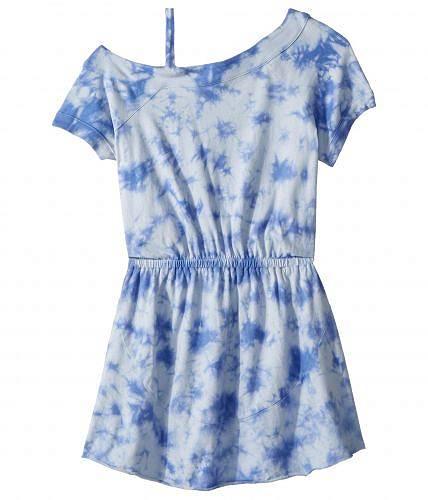 スプレンデッド Splendid Littles 女の子用 ファッション 子供服 ドレス One Shoulder Tie-Dye Dress (Big Kids) - Hydrangea