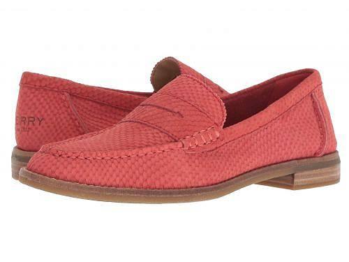 送料無料 スペリー Sperry レディース 女性用 シューズ 靴 ローファー ボートシューズ Seaport Penny Snake - Red