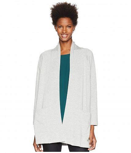 アイリーンフィッシャー Eileen Fisher レディース 女性用 ファッション セーター Tencel Organic Cotton Fleece Kimono Long Cardigan - Dark Pearl