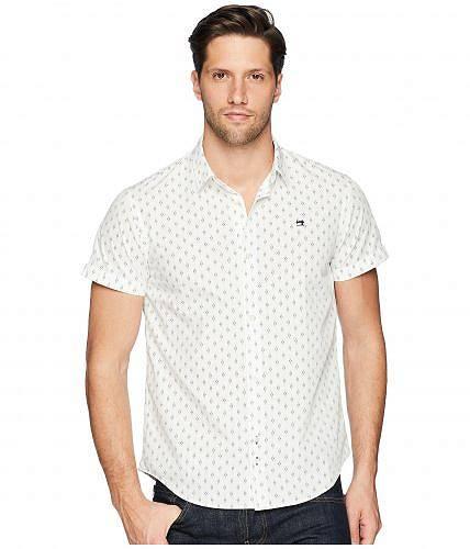 スコッチアンドソーダ Scotch & Soda メンズ 男性用 ファッション ボタンシャツ Classic Short Sleeve Poplin Shirt - Combo B