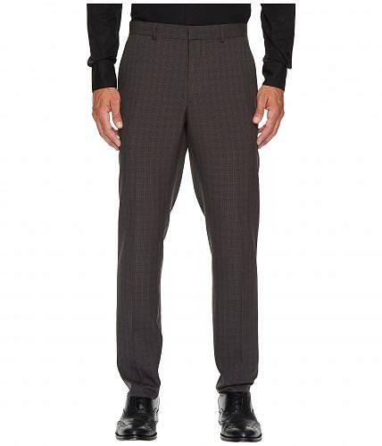 ペリーエリス Perry Ellis Portfolio メンズ 男性用 ファッション パンツ ズボン Slim Fit Mechanical Stretch Tonal Plaid Pants - Charcoal