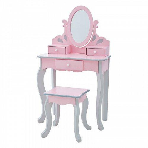 お祝いやプレゼントにも Teamson Kids Little プリンセス Rapunzel Play Vanity Set Pink/Grey ドレッサー 女の子おもちゃ おしゃれ【送料無料】【代引不可】【あす楽不可】