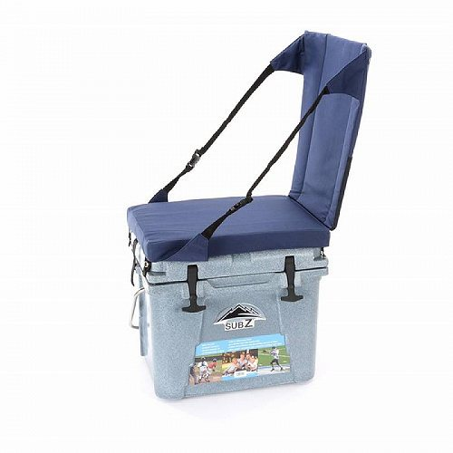 Sub Z 23 Quart Outdoor Camping Hard Cooler with High Back uflage シート Tan Blue アウトドア 釣り クーラーボックス【送料無料】【代引不可】【あす楽不可】
