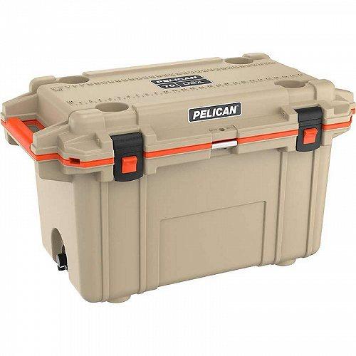 Pelican ペリカン 70QT Elite Cooler Tan / Orange アウトドア 釣り クーラーボックス【送料無料】【代引不可】【不可】