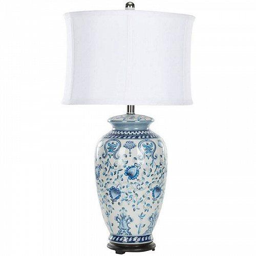 Safavieh Paige 26.75 in. H お花 Jar Table Lamp Blue/White テーブルライト・ランプ 照明器具 アメリカ【送料無料】【代引不可】【あす楽不可】