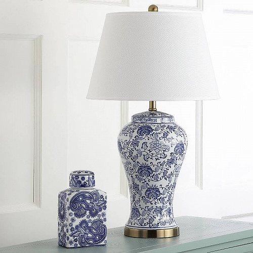 Safavieh Spring 29-Inch High Blossom Table Lamp Blue/White テーブルライト・ランプ 照明器具 アメリカ【送料無料】【代引不可】【あす楽不可】
