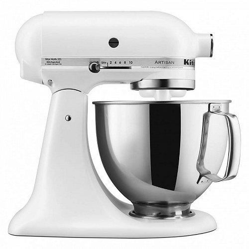 KitchenAid キッチンエイド Artisan Series 5-Quart Tilt-Head Stand Mixer (KSM150PSER) Matte White キッチンエイド スタンドミキサー【送料無料】【代引不可】【不可】