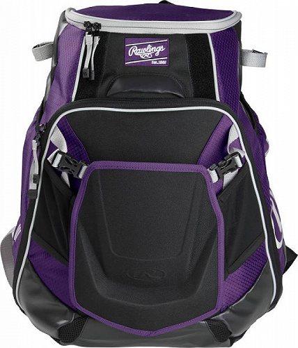 Rawlings ローリングス Velo Baseball バックパック Purple 野球リュック バックパック 鞄【送料無料】【代引不可】【あす楽不可】