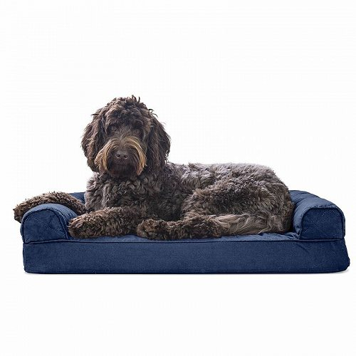 Furhaven Pet Products FurHaven Pet Dog Bed | Quilted Couch Sofa-Style Pet Bed for Dogs & Cats Jumbo Orthopedic Foam Navy ペット ベッド・ソファー【送料無料】【代引不可】【不可】