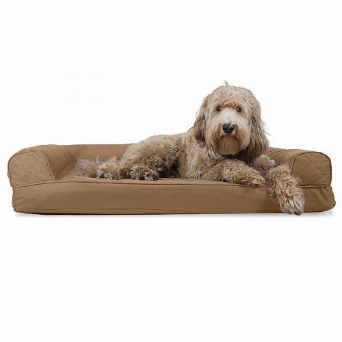 Furhaven Pet Products FurHaven Pet Dog Bed | Quilted Couch Sofa-Style Pet Bed for Dogs & Cats Jumbo Orthopedic Foam Toasted Brown ペット ベッド・ソファー【送料無料】【代引不可】【不可】