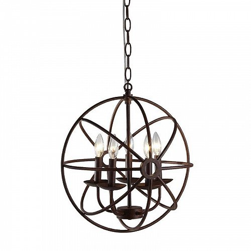 Warehouse of Tiffany Theo 5-light Rust 17-inch Chandelier おしゃれ シャンデリア【送料無料】【代引不可】【あす楽不可】