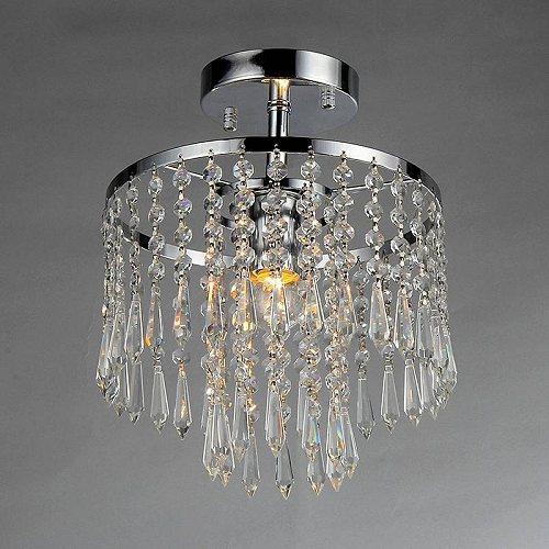 Chrome Warehouse 1-light Tiered of クリスタル Tiffany Chandelier おしゃれ Seek シャンデリア【送料無料】【代引不可】【あす楽不可】