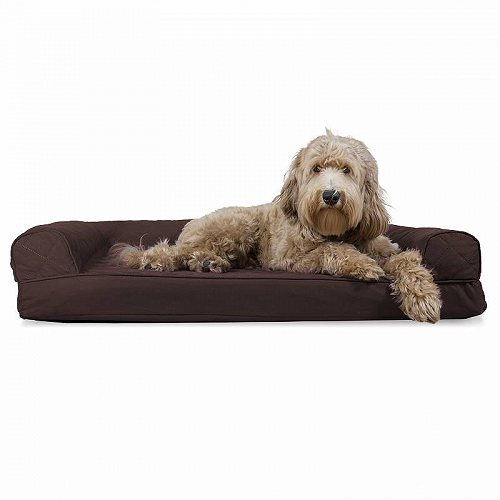 Furhaven Pet Products FurHaven Pet Dog Bed | Quilted Couch Sofa-Style Pet Bed for Dogs & Cats Jumbo Memory Foam コーヒー ペット ベッド・ソファー【送料無料】【代引不可】【不可】