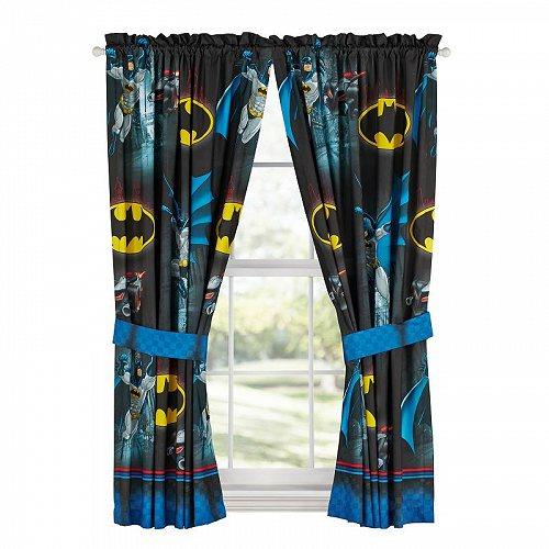 お祝いやプレゼントにも Batman バットマン キッズ 子供 Bedroom Curtain Panel Set 2 5☆大好評 入荷予定 代引不可 子供部屋 あす楽不可 L of 63-inch カーテン 送料無料
