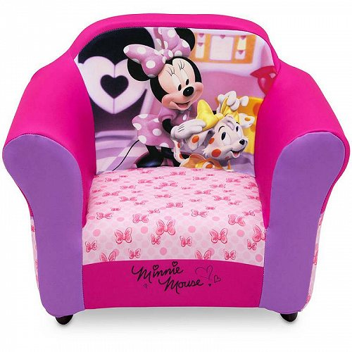 Disney ディズニー ミニーマウス キッズ 子供 Upholstered Chair with Sculpted Plastic Frame by Delta Children お子様専用ソファ チェア 椅子 【送料無料】【代引不可】【あす楽不可】