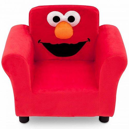 お祝いやプレゼントにも Sesame Street セサミストリート エルモ キッズ 子供 Upholstered Chair by Delta Children お子様専用ソファ チェア 椅子 【送料無料】【代引不可】【あす楽不可】