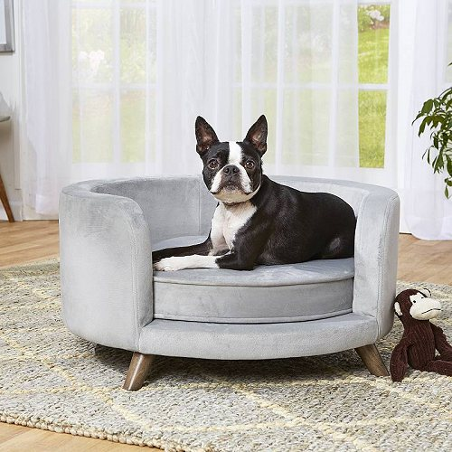 Enchanted Home Pet Rosie Dog Sofa Bed Gray 27 ペット ベッド・ソファー