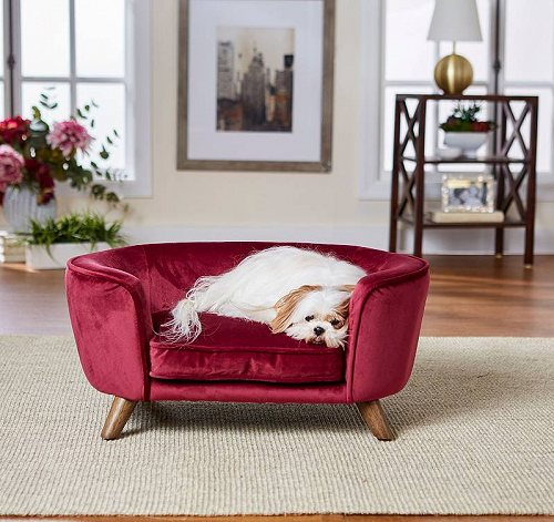 Enchanted Home Pet Romy Pet Sofa Wine ペット ベッド・ソファー【送料無料】【代引不可】【不可】