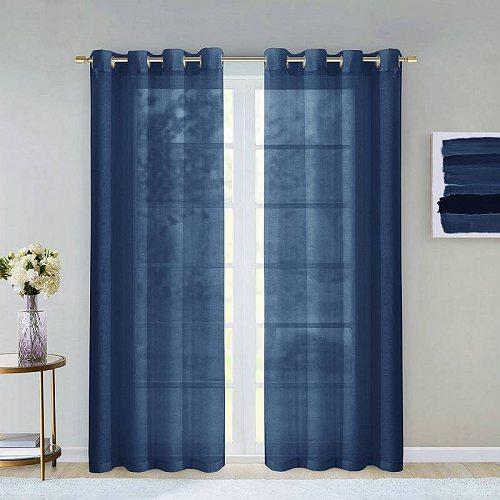 お祝いやプレゼントにも Dainty Home 最安値挑戦 Malibu ラッピング無料 Window Curtain of Panel 84 2 Set
