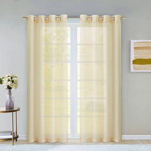 お祝いやプレゼントにも Dainty Home Malibu 新品■送料無料■ メーカー公式 Window Curtain 84 Set of Panel 2