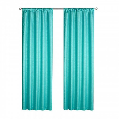 Your Zone キッズ 子供 Solid Sparkle Room Darkening Curtains Single Panel Turquoise 子供部屋 カーテン 【送料無料】【代引不可】【あす楽不可】