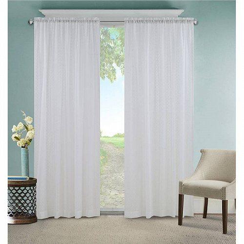 お祝いやプレゼントにも Mainstays Sienna Window Curtain Panel バーゲンセール Dobby カーテン 子供部屋 代引不可 毎日続々入荷 送料無料 あす楽不可 Sheer