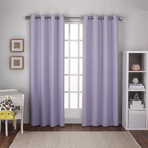 お祝いやプレゼントにも Exclusive Home Textured Woven Blackout Grommet Top Curtain 送料無料 代引不可 子供部屋 受注生産品 カーテン あす楽不可 激安超特価 by Lilac Purple Panels