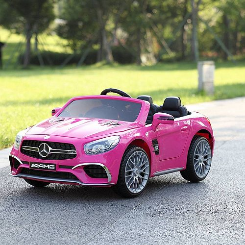 TOBBI 12V キッズ 子供 Ride On Car Licensed Mercedes-Benz Electric Battery Toy with Remote Control MP3,Rosy メルセデス・ベンツ 電動自動車  【送料無料】【代引不可】【あす楽不可】