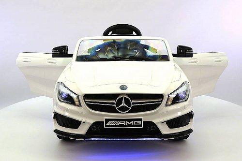 お祝いやプレゼントにも Moderno Kids Mercedes CLA45 12V キッズ 子供 Ride-On Car with R/C Parental Remote | White メルセデス・ベンツ 電動自動車  【送料無料】【代引不可】【あす楽不可】