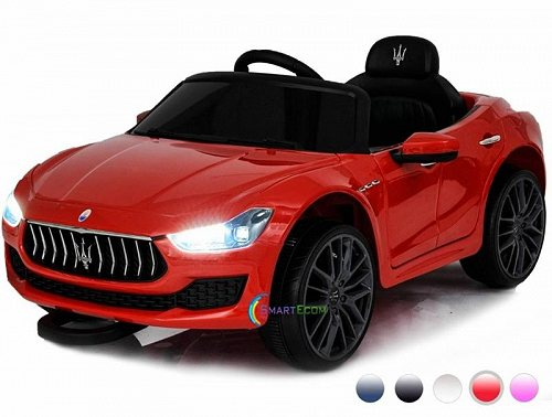 Maserati New 12V Ghibli Ride on electric power car For キッズ 子供 Remote Control MP3 LED lights Opening doors Red ベストチョイスブランド 電動自動車  【送料無料】【代引不可】【不可】