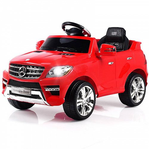Costway Mercedes Benz ML350 6V Electric キッズ 子供 Ride On Car Licensed MP3 RC Remote Control Red メルセデス・ベンツ 電動自動車  【送料無料】【代引不可】【不可】
