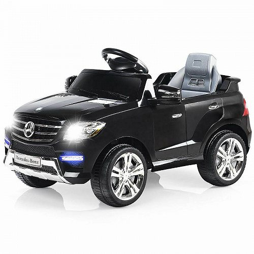 Costway Mercedes Benz ML350 6V Electric キッズ 子供 Ride On Car Licensed MP3 RC Remote Control Black メルセデス・ベンツ 電動自動車  【送料無料】【代引不可】【不可】
