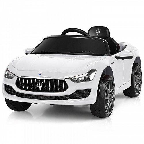 Gymax 12V Maserati Licensed キッズ 子供 Ride on Car w/ RC Remote Control Led Lights MP3 White ベストチョイスブランド 電動自動車  【送料無料】【代引不可】【あす楽不可】
