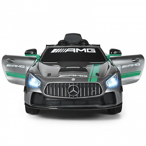 Gymax Licensed キッズ 子供 Ride On Car 12V Electric Mercedes Benz Toy Car with 2.4G Remote Control Silver メルセデス・ベンツ 電動自動車  【送料無料】【代引不可】【あす楽不可】
