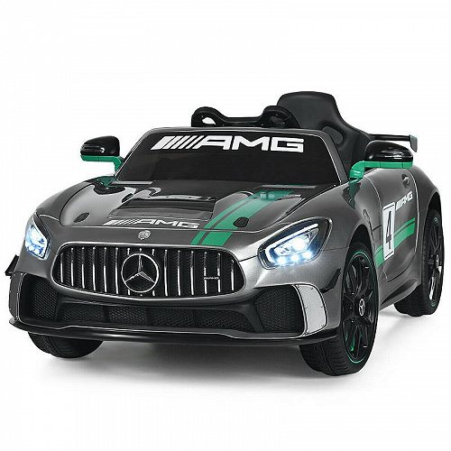 Costway 12V Mercedes Benz AMG Licensed キッズ 子供 Ride On Car with Remote Control Silver Grey メルセデス・ベンツ 電動自動車  【送料無料】【代引不可】【あす楽不可】