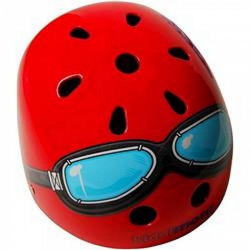 お祝いやプレゼントにも Kiddimoto Red Goggle おすすめ 高い素材 ヘルメット 代引不可 Small 送料無料 あす楽不可 子供用